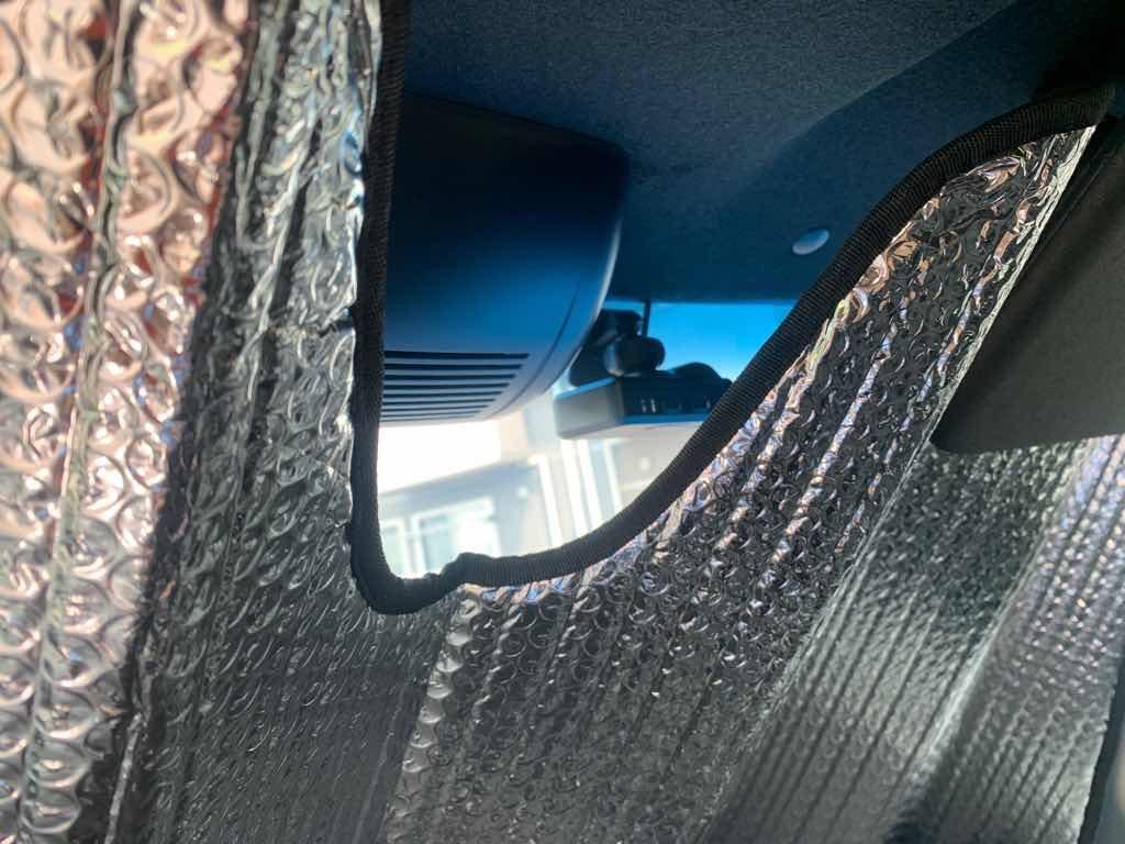 N-BOX車内から見たドラレコとサンシェード