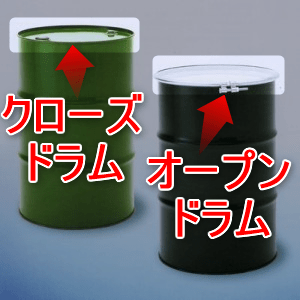 ドラム缶の種類(オープンドラムとクローズドラム)