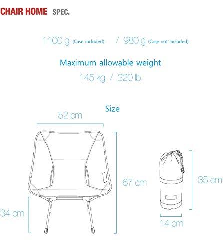 Helinoxのイス重量と寸法