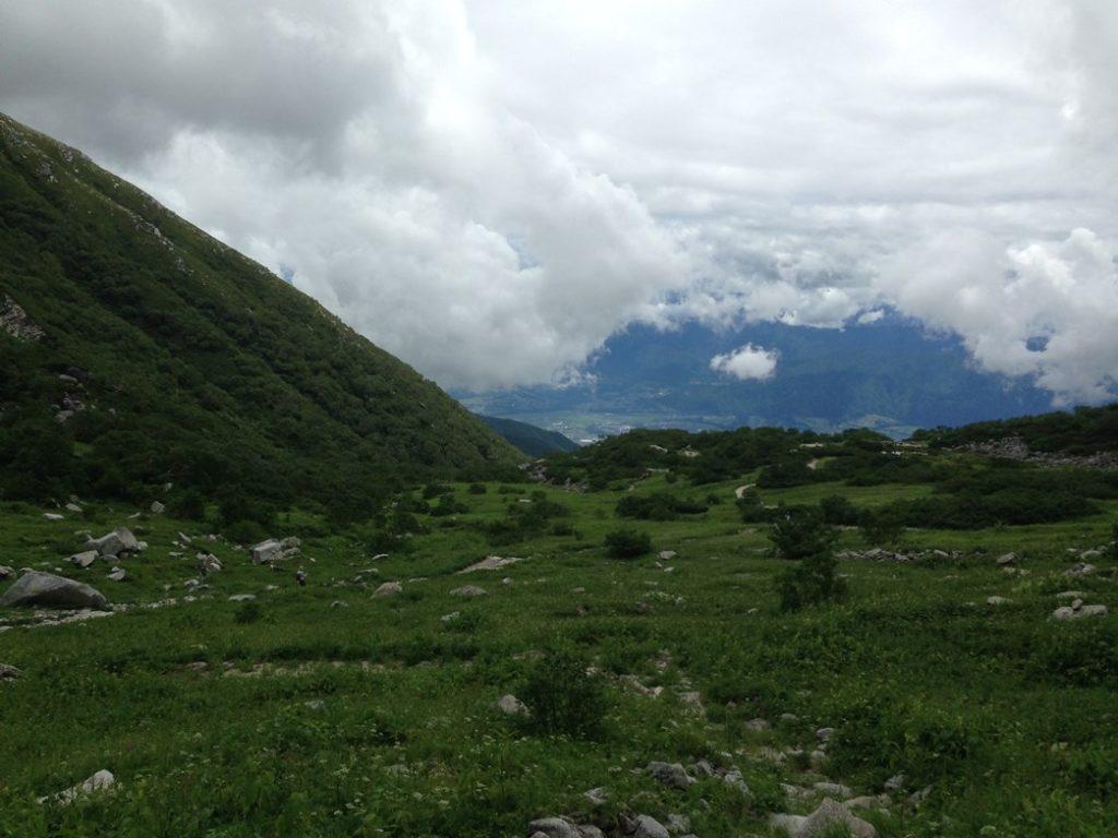 駒ヶ岳の途中